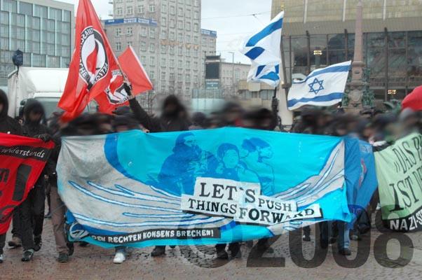 lets push things forward antifa burg demo